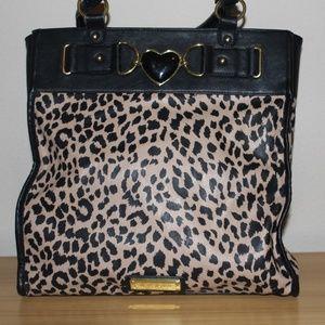 Betsey Johnson Cheetah print tote bag